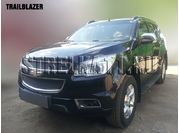 Сетка на радиатор и в бампер Защита радиатора Premium для CHEVROLET TRAILBLAZER II с 2012 г.в.(Черный)